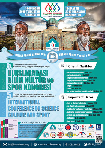 5th International Conference on Science Culture and Sport Conference Afi�i