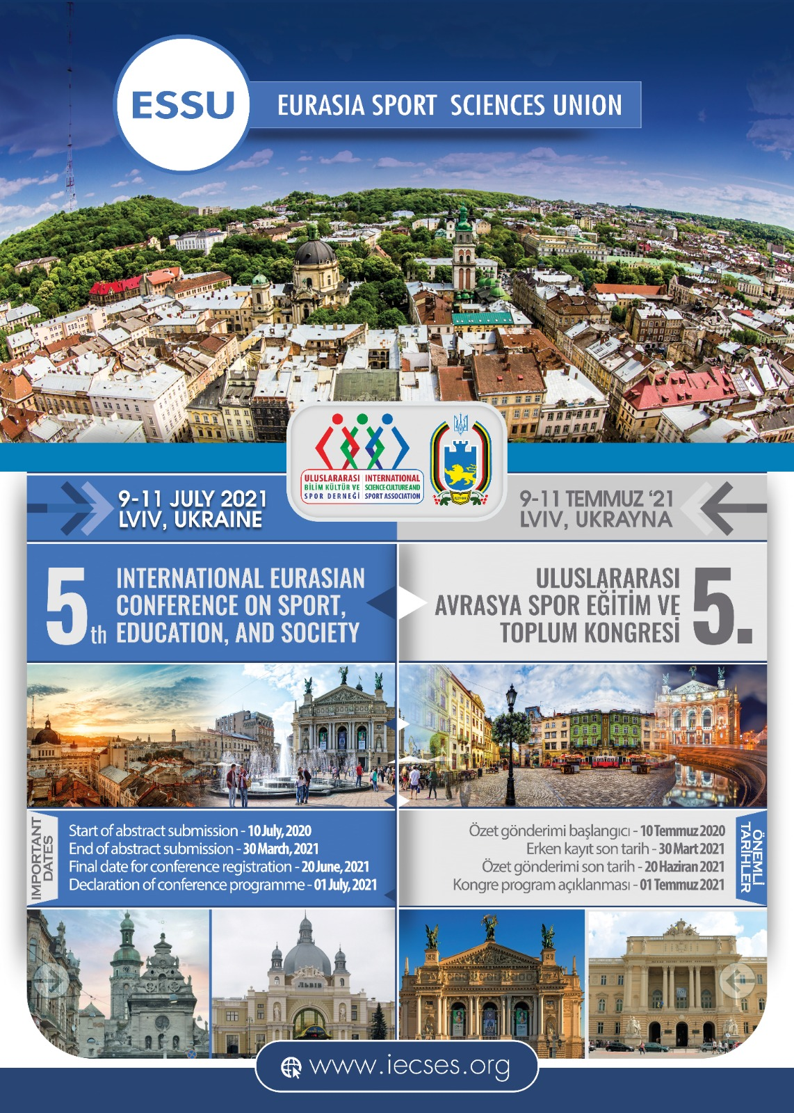 5th Internationaly Eurasian Conference on Sport,Education, And Society, 28-31 Mayıs Lviv/May, UKRAINE
